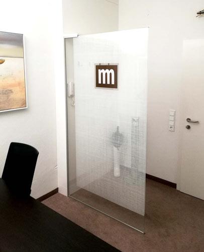 Glasdruck für Türen